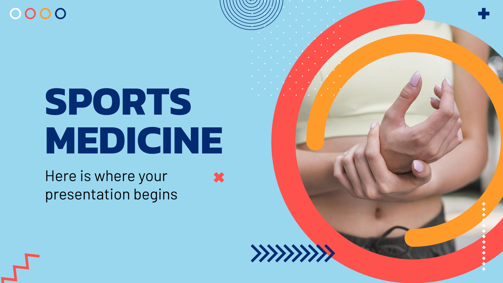 Plantilla de presentación Medicina deportiva