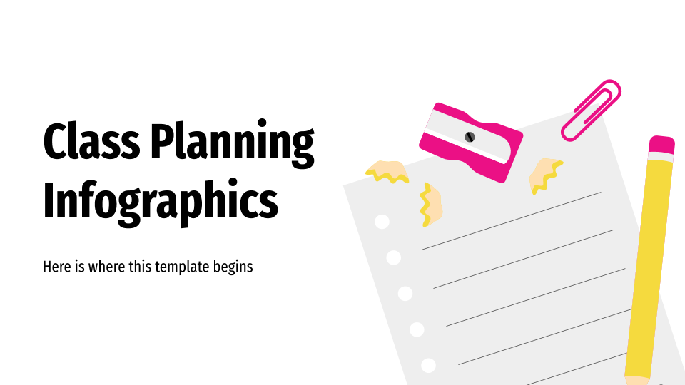 Class Planning Infographics presentation template
