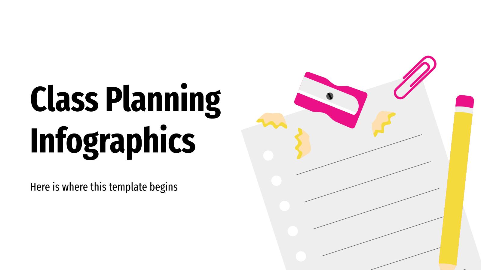 Modelo de apresentação Infográficos de planejamento de aulas