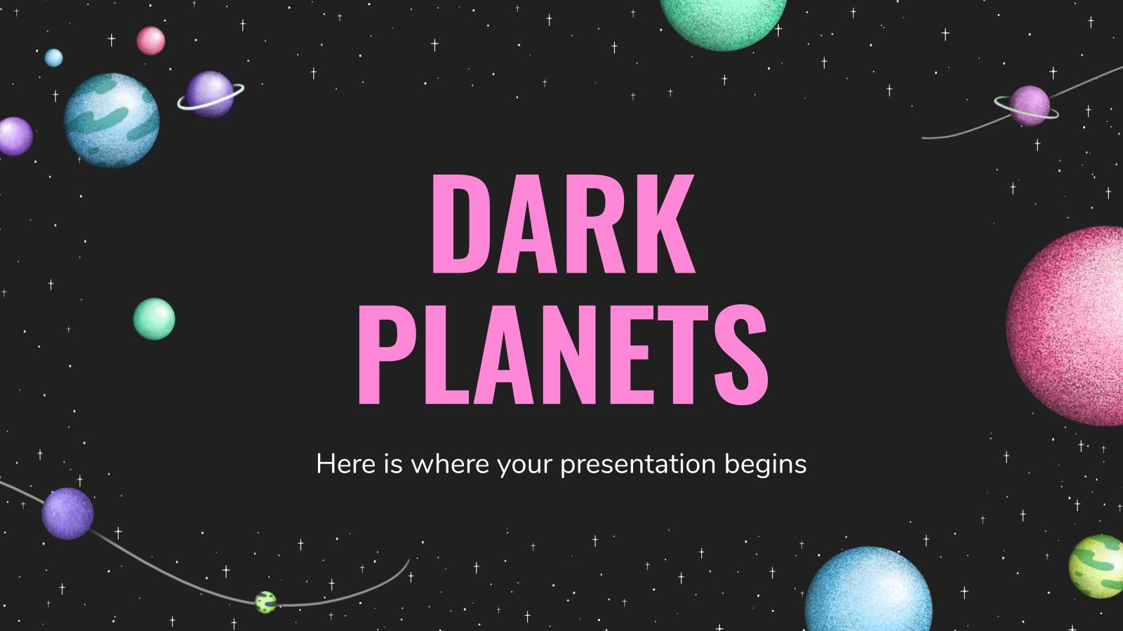Modelo de apresentação Planetas escuros