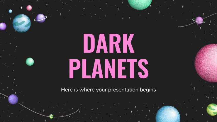 Plantilla de presentación Planetas oscuros