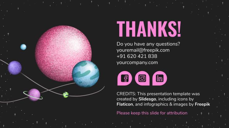 Dark Planets presentation template
