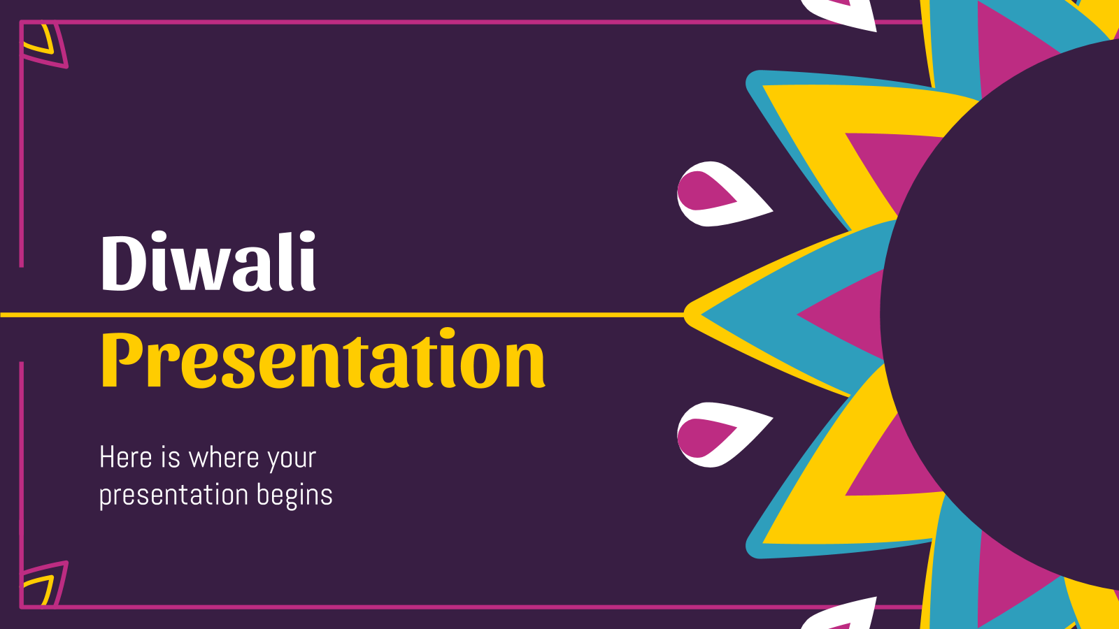 Plantilla de presentación Diwali