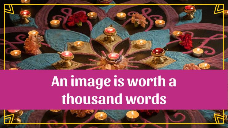Diwali presentation template