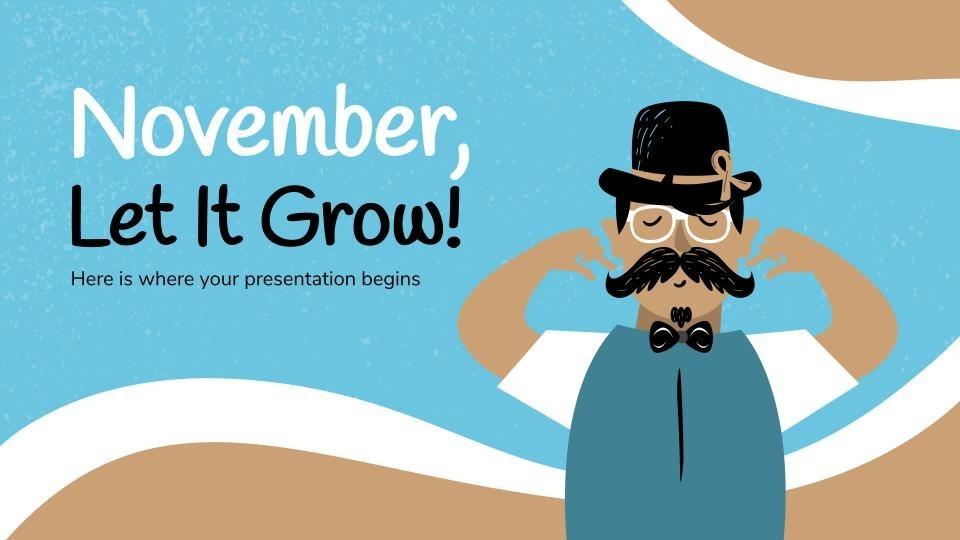 Plantilla de presentación Déjate el bigote en noviembre