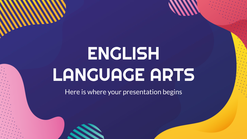 English Language Arts Thesis presentation template