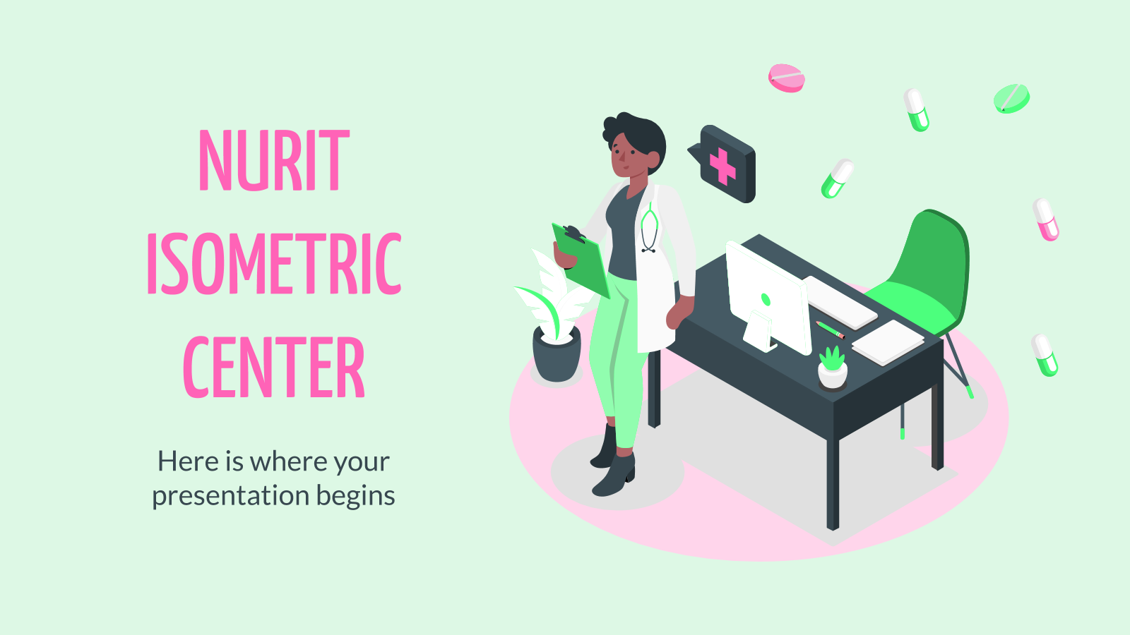 Nurit Isometric Center presentation template