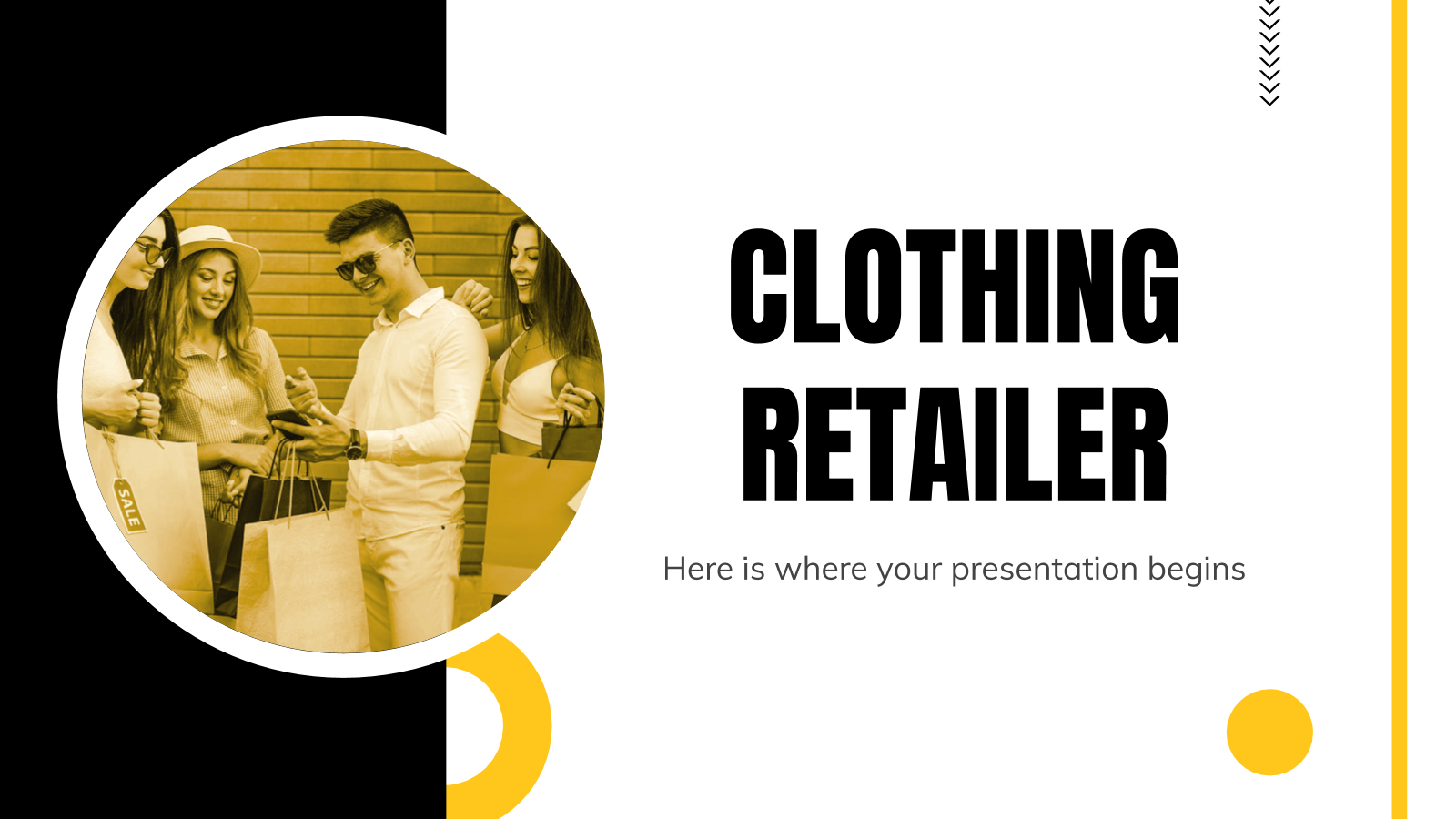 Clothing Retailer Business Plan presentation template