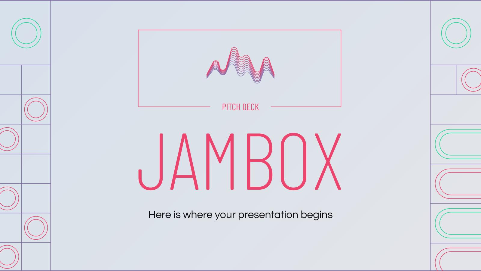Plantilla de presentación Pitch deck Jambox