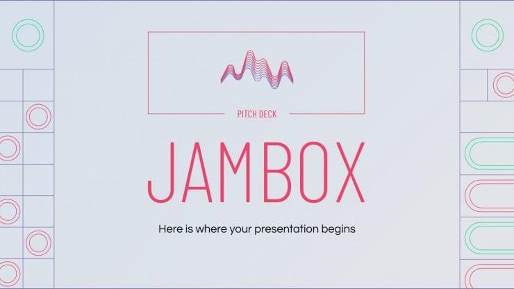 Pitch Deck Jambox : Modèles de présentation