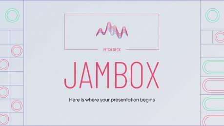 Modelo de apresentação Apresentação de vendas Jambox