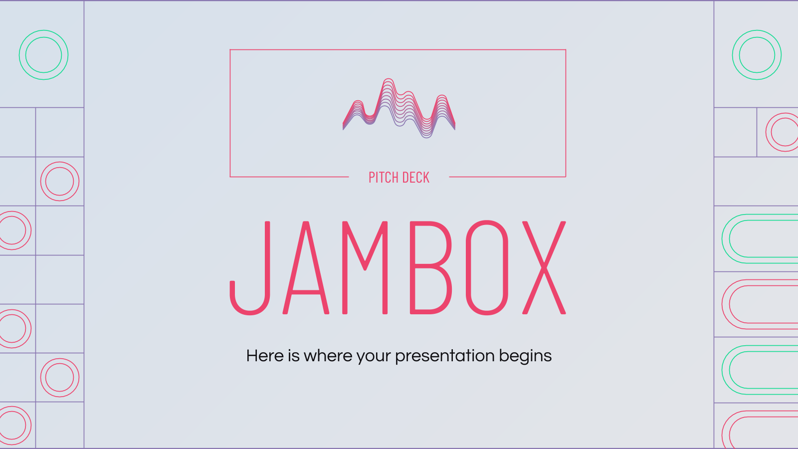 Jambox Pitch Deck presentation template