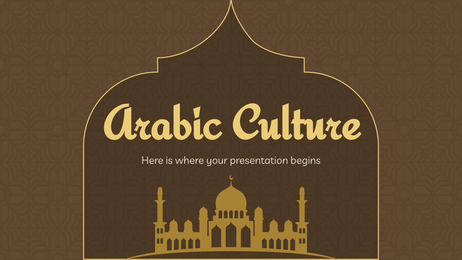 La culture arabe : Modèles de présentation