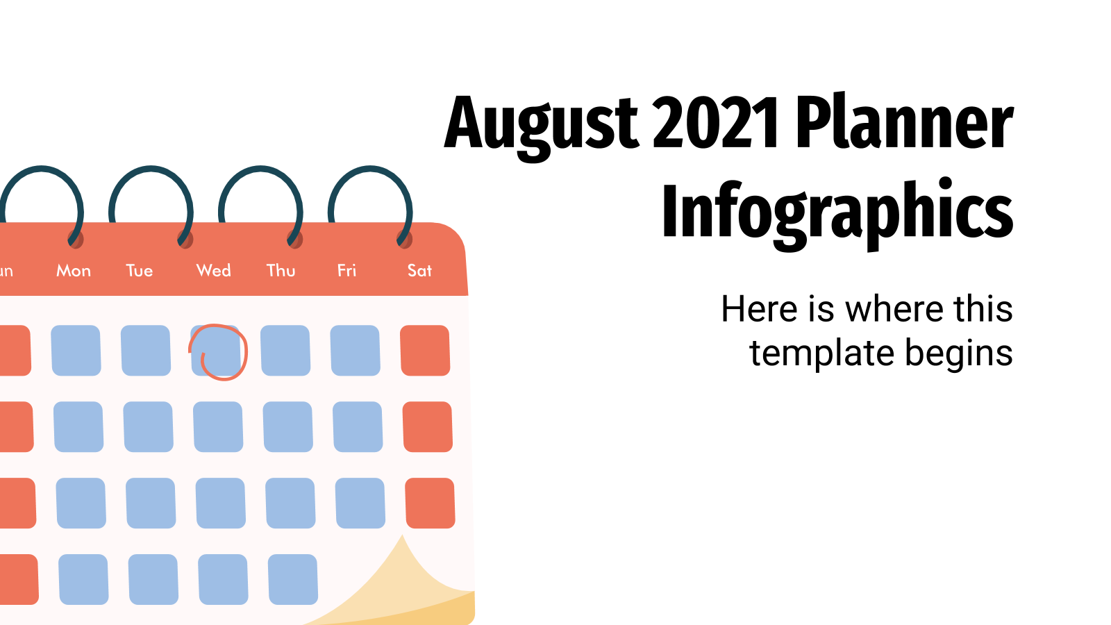 August 2021 Planner Infographics presentation template