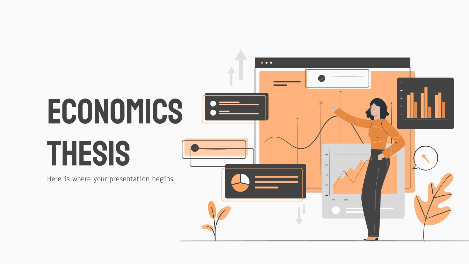 Plantilla de presentación Tesis de economía