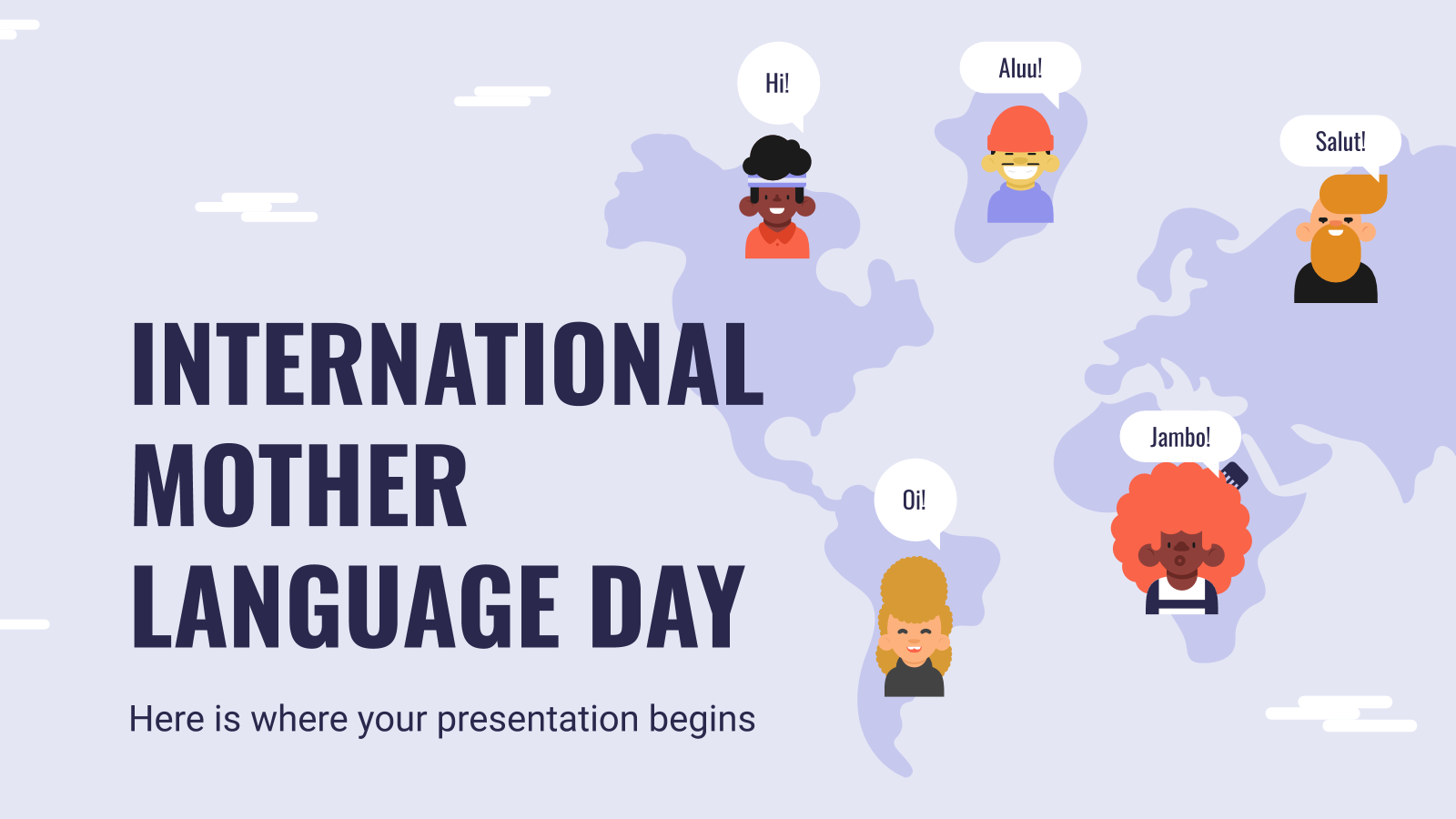 Plantilla de presentación Día Internacional de la Lengua Materna