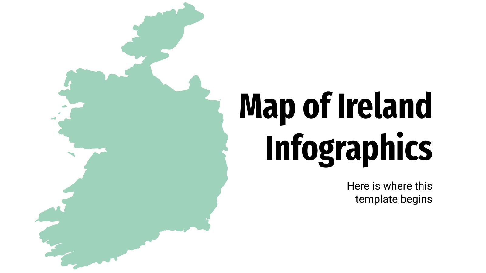 Infographies de carte de l'Irlande : Modèles de présentation