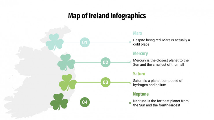 Map of Ireland Infographics presentation template