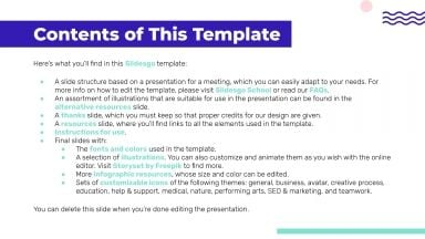 Business Meeting Agenda presentation template