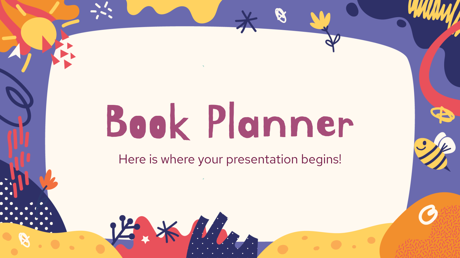 Elementary Level - Book Planner presentation template