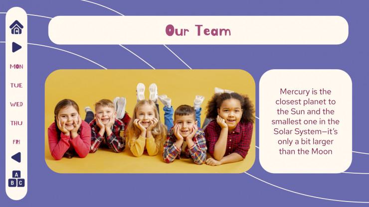 Plantilla de presentación Agenda semanal de primaria
