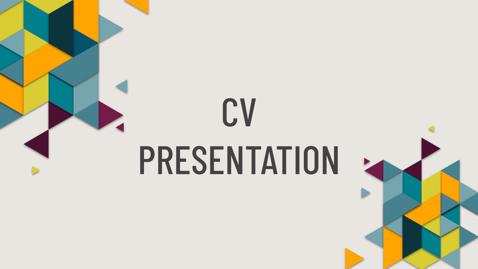 My Creative Resume presentation template