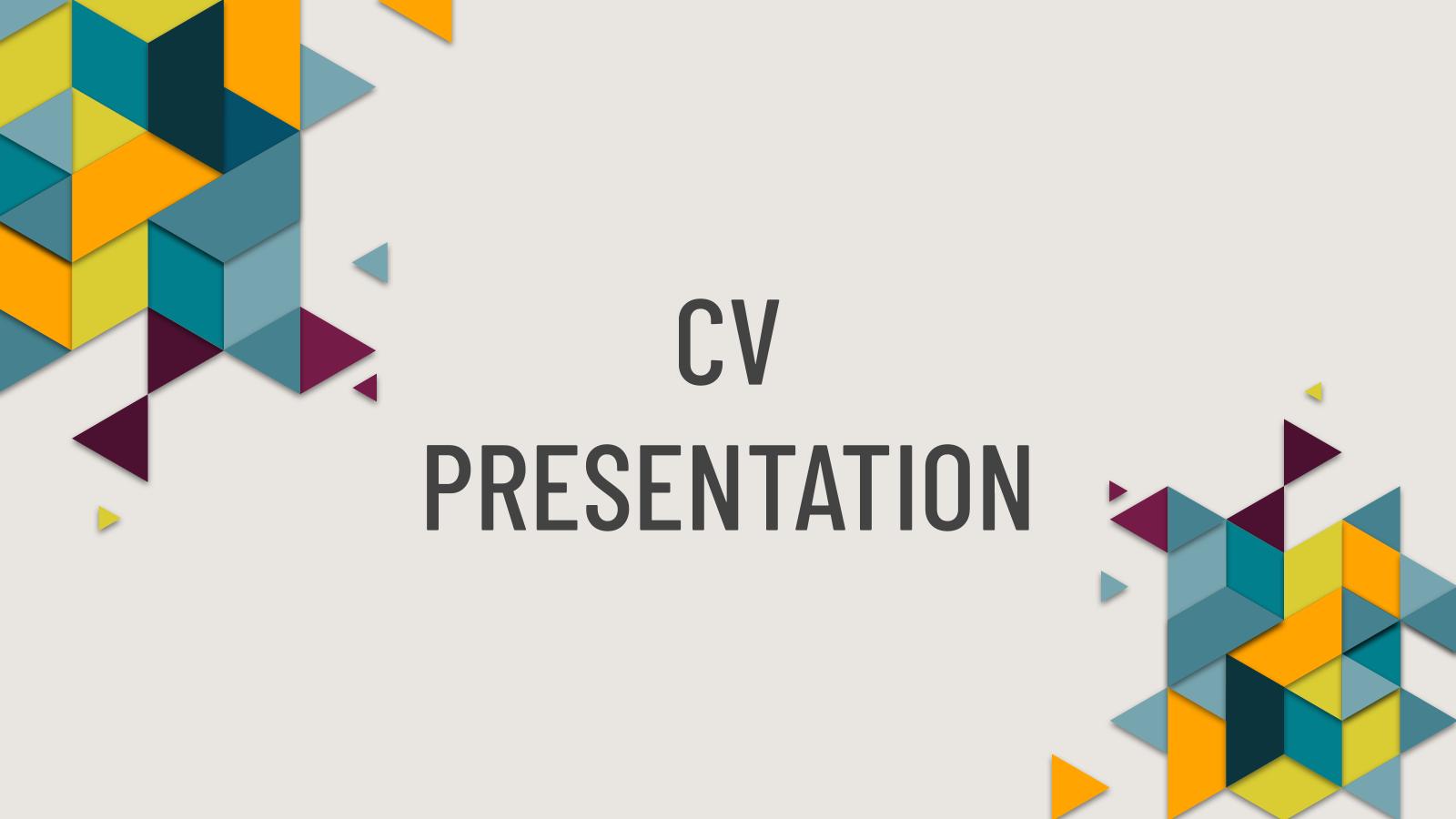 Modelo de apresentação Meu currículo criativo