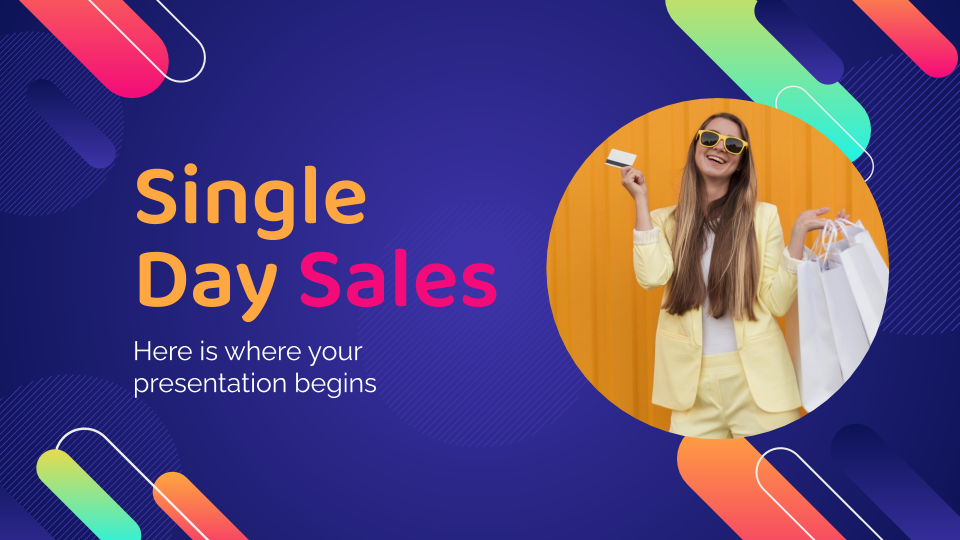 Single Day Sales presentation template