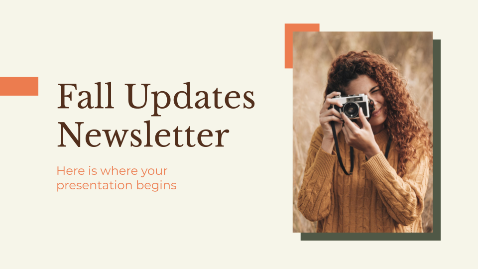 Fall Updates Newsletter presentation template