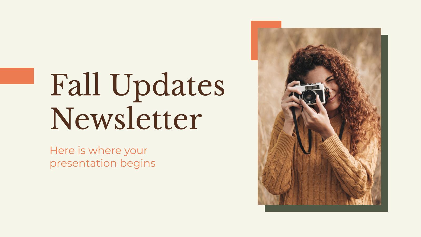 Newsletter sur les nouveautés de l'automne : Modèles de présentation