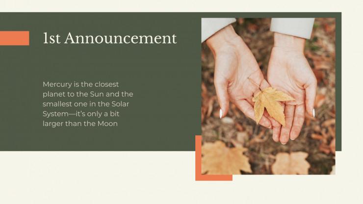 Plantilla de presentación Newsletter para otoño