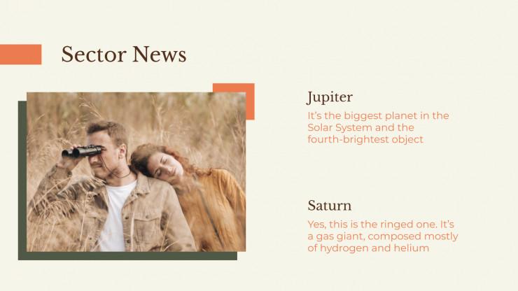 Fall Updates Newsletter presentation template