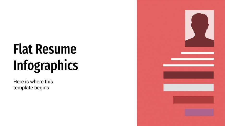 Flat Resume Infographics presentation template
