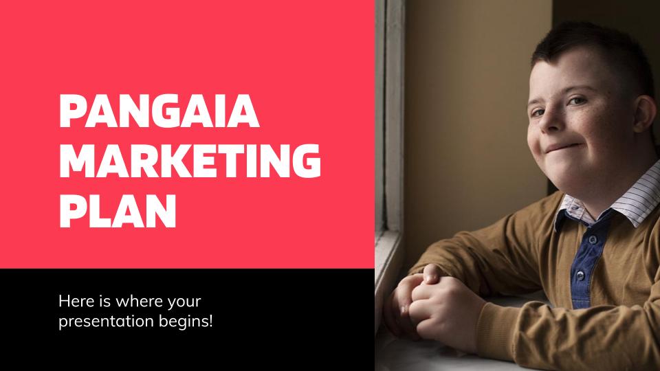 Modelo de apresentação Plano de marketing Pangaia