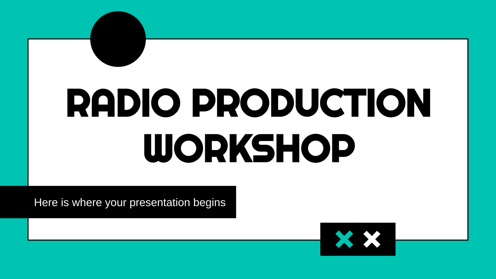 Atelier de production radio : Modèles de présentation