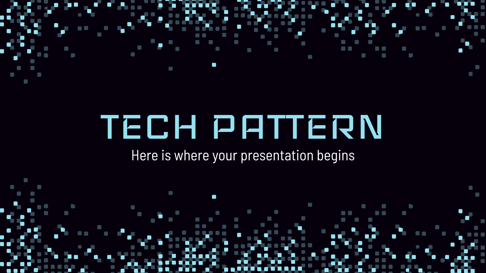 Tech Pattern presentation template