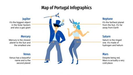 Plantilla de presentación Infografías de Portugal