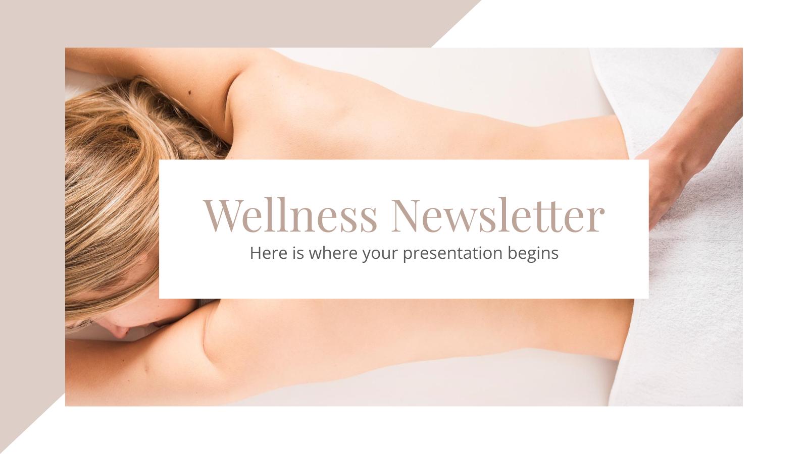 Plantilla de presentación Newsletter de bienestar