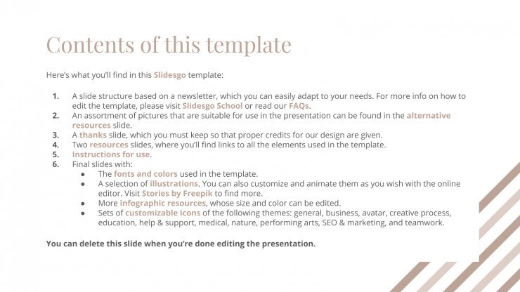 Wellness Newsletter presentation template