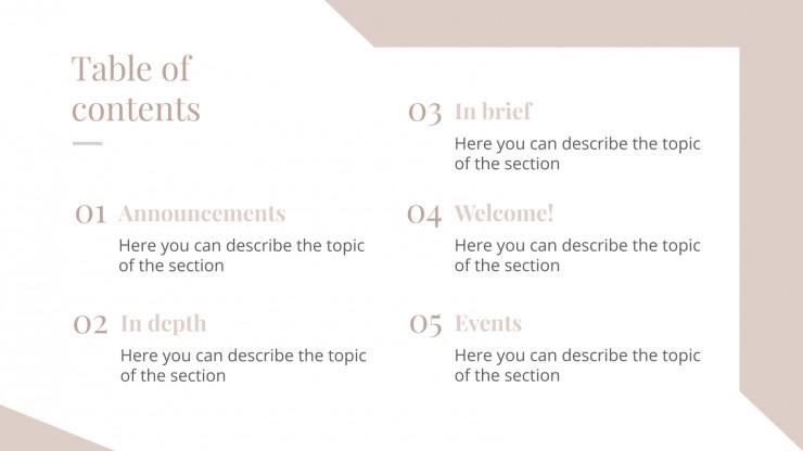 Newsletter sur le bien-être : Modèles de présentation