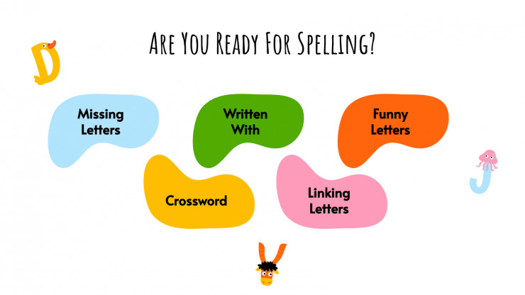 Spelling Choice Boards presentation template