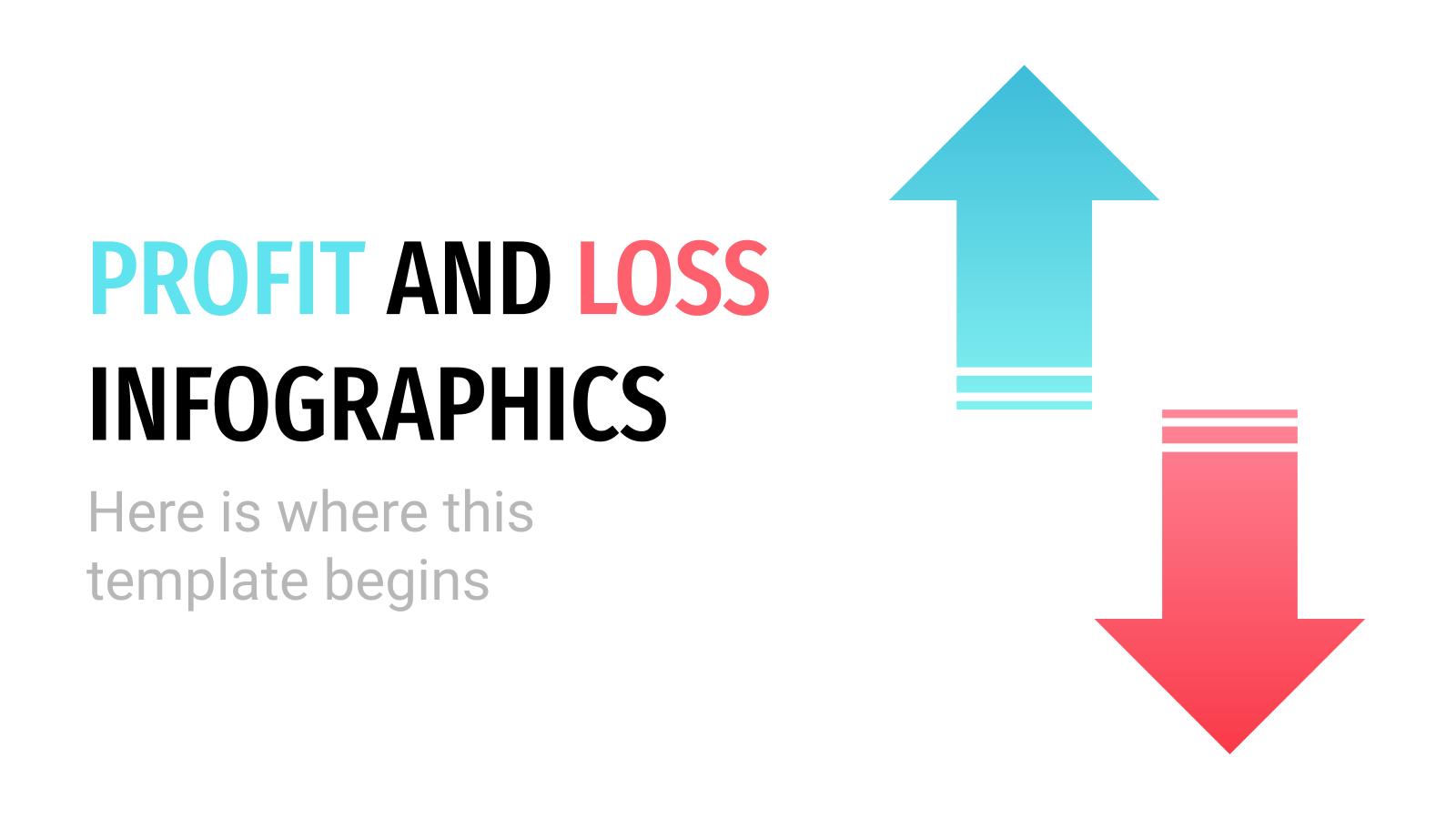 Plantilla de presentación Infografías de beneficios y pérdidas