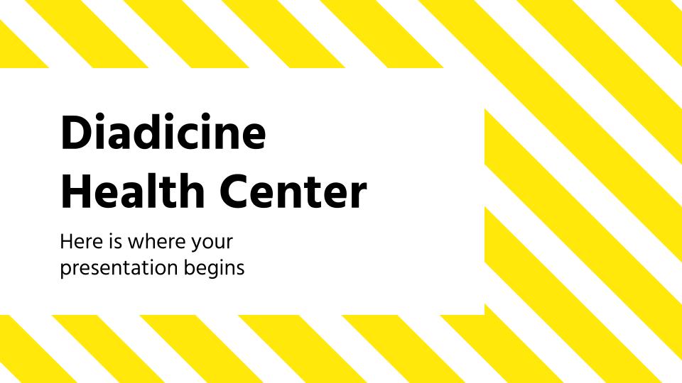 Plantilla de presentación Centro de salud Diadicine