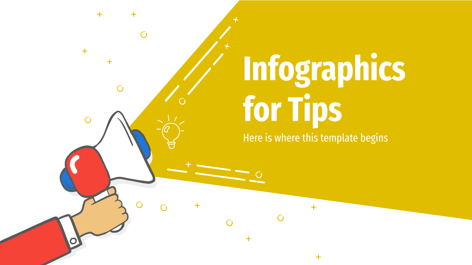 Infographics for Tips presentation template