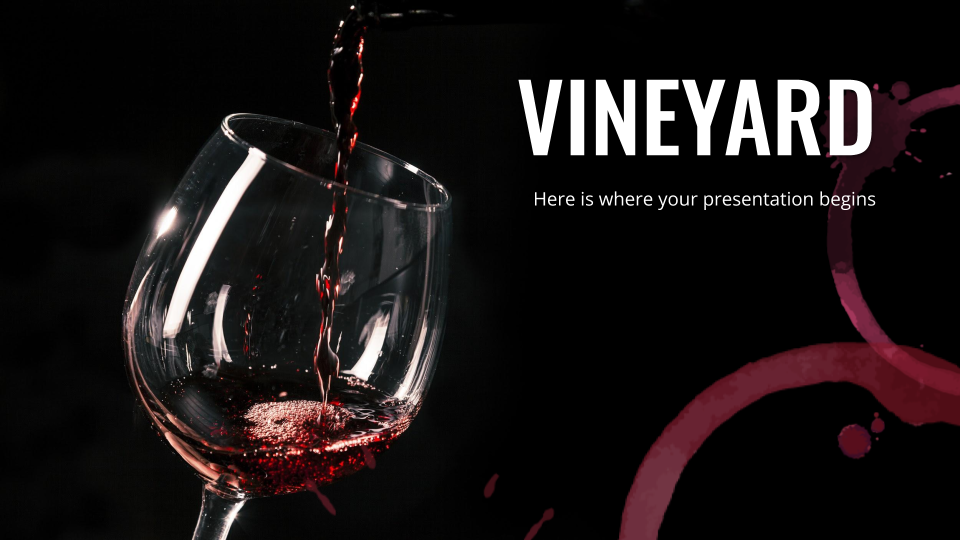 Vineyard Company Profile presentation template