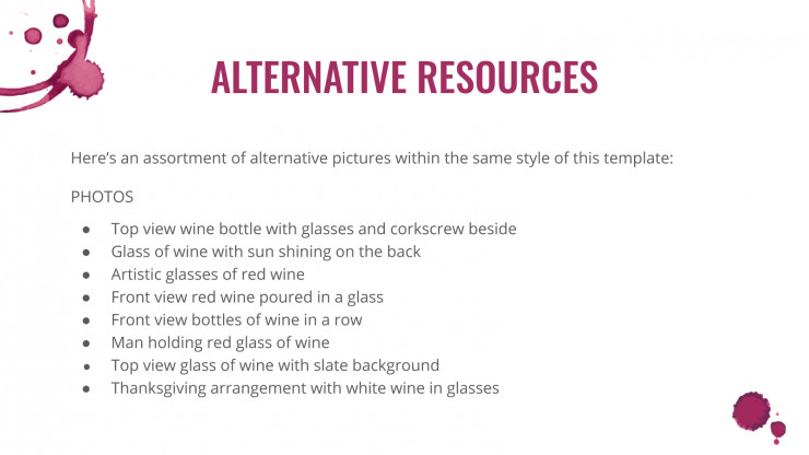 Modelo de apresentação Perfil de vinícola