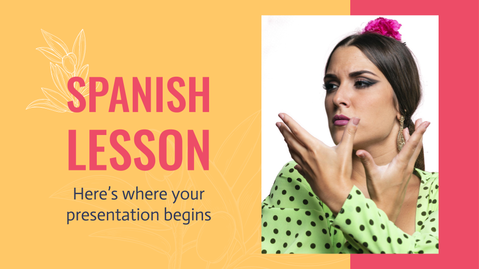 Spanish Lesson presentation template