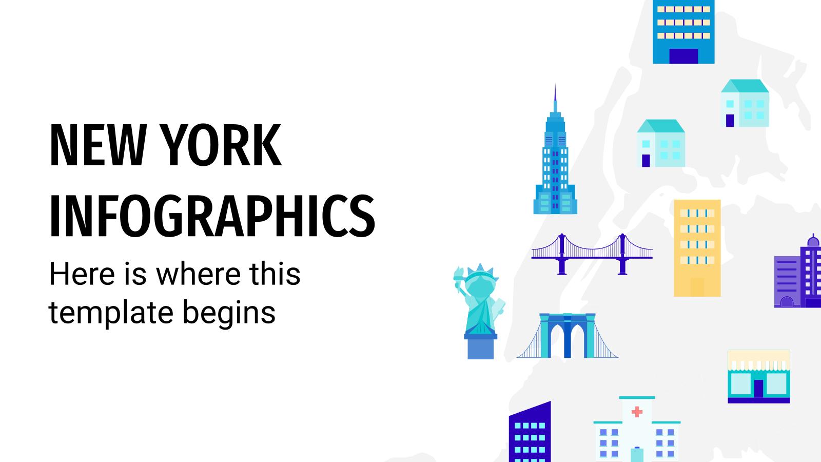 Plantilla de presentación Infografías de Nueva York