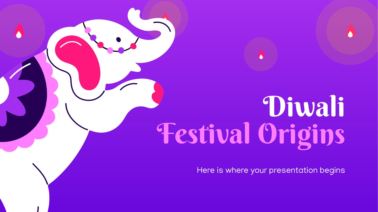 Modelo de apresentação Origens do festival Diwali