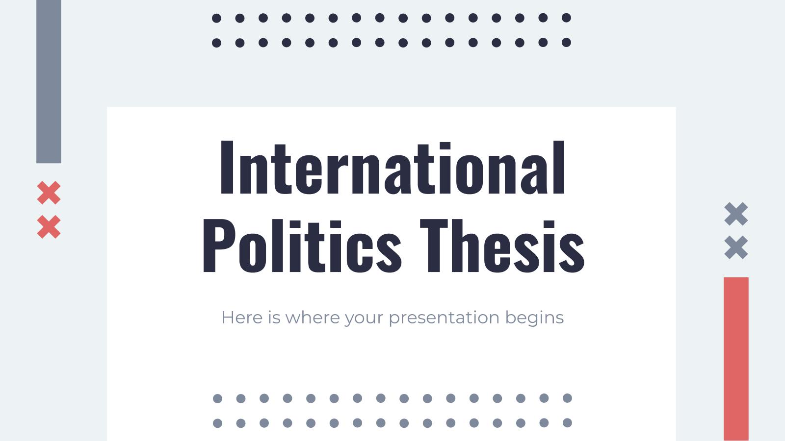 Modelo de apresentação Tese de política internacional